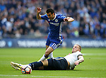 Chelsea's Pedro gets fouled by Tottenham's Toby Alderweireld during the FA Cup Semi Final match at Wembley Stadium, London. Picture date: April 22nd, 2017. Pic credit should read: David Klein/Sportimage