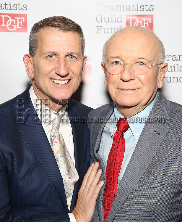 Thomas Kirdahy and Terrence McNally attends the Dramatists Guild Fund Gala 'Great Writers Thank Their Lucky Stars : The Presidential Edition' at Gotham Hall on November 7, 2016 in New York City.