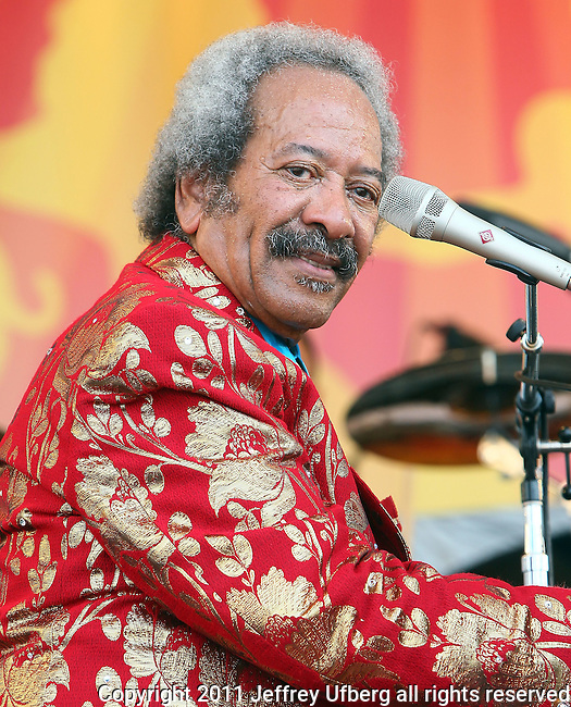"""May 7, 2011 New Orleans, La.: Singer / Musician Allen Toussaint performs """"2011 New Orleans Jazz & Heritage Festival"""" on May 7, 2011 in New Orleans, La."""