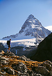 Hiker, Mount Assiniboine, Mount Assiniboine Provincial Park, British Columbia, Canada