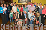 Young at Heart - Michael Dowling originally from Kilgulbin, Ardfert, now living in London, seated centre having a wonderful time with family at his surprise 70th birthday party held in The Grand Hotel on Saturday.