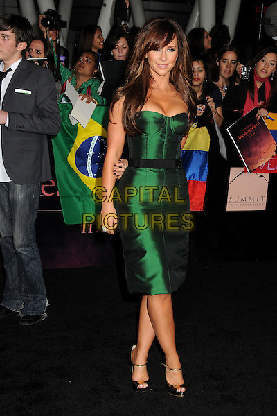 Jennifer Love Hewitt.The Los Angeles premiere of 'The Twilight Saga Breaking Dawn Part 1' at Nokia Theatre at L.A. Live in Los Angeles, California, USA..November 14th, 2011.full length dress green strapless corset black belt.CAP/ADM/BP.©Byron Purvis/AdMedia/Capital Pictures.