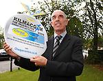 Scotland legend Joe Jordan at One Devonshire Gardens promoting the Kilmacolm 10k