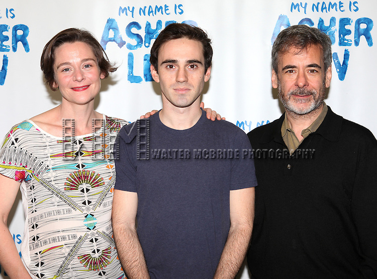 Jenny Bacon, Ari Brand and Mark Nelson attends the Meet & Greet for the new Off-Broadway Play 'My Name Is Asher Lev'  at the Davenport Studios on 10/22/2012 in New York City.
