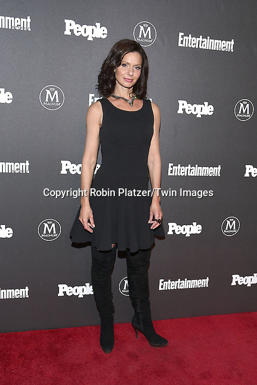 Florencia Lozano attends the Entertainment Weekly &amp; PEOPLE Magazine New York Upfronts Celebration on May 16, 2016 at Cedar Lake in New York, New York, USA.<br /> <br /> photo by Robin Platzer/Twin Images<br />  <br /> phone number 212-935-0770