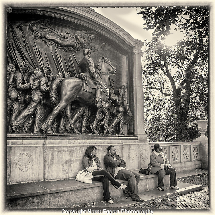 The Robert Gould Shaw Memorial on Boston Common by Augustus Saint-Gaudens.