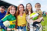 Cáit Daly and Siobhan Daly with Linda Long and Micheál Long (Castleisland), pictured at the Kerry Team Open Day Meet and Greet, at Fitzgerald Stadium, Killarney on Saturday last.