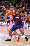 League ACB-ENDESA 2017/2018. Game: 1.<br /> FC Barcelona Lassa vs Baskonia: 87-82.<br /> Marcelinho Huertas vs Adam Hanga.