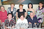 NIGHT OUT: Having a great time at the Ballinorig get-together held in the Manor West Hotel on Friday night were seated l-r: Cathleen McMullen, Kay and Michael Long. Standing l-r: Marie Fealey, Bridie Sheehy, Kitty Moriarty, Orla and Noelle Long.   Copyright Kerry's Eye 2008