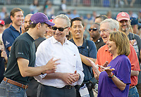 From left to right: Speaker of the United States House of Representatives Paul Ryan (Republican of Wisconsin), US Senate Minority Leader Chuck Schumer (Democrat of New York), US Senate Majority Leader Mitch McConnell (Republican of Kentucky), and US House Minority Leader Nancy Pelosi (Democrat of California) share a light moment prior to the 56th Annual Congressional Baseball Game for Charity where the Democrats play the Republicans in a friendly game of baseball at Nationals Park in Washington, DC on Thursday, June 15, 2017.<br /> Credit: Ron Sachs / CNP/MediaPunch (RESTRICTION: NO New York or New Jersey Newspapers or newspapers within a 75 mile radius of New York City)