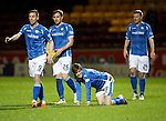 Motherwell v St Johnstone..30.12.15  SPFL  Fir Park, Motherwell<br /> An injured Murray Davidson<br /> Picture by Graeme Hart.<br /> Copyright Perthshire Picture Agency<br /> Tel: 01738 623350  Mobile: 07990 594431