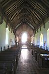 Light shining through east window, Church of Saint Mary, Uggeshall, Suffolk, England, UK