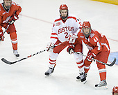 Eric Gryba (BU - 2), Sergio Somma (Ohio State - 44) - The Boston University Terriers defeated the Ohio State University Buckeyes 8-3 in the 2009 Northeast Regional Semifinal on Saturday, March 28, 2009, at the Verizon Wireless Center in Manchester, New Hampshire.