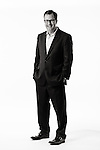 Full length portrait of David Gallagher, President of Ketchum Pleon Europe