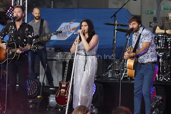 NEW YORK, NY -  JULY 6: Lady Antebellum performs on NBC's Today Show at Rockefeller Plaza in New York City on July 6, 2018. Credit;  John Barrett/PHOTOlink/MediaPunch