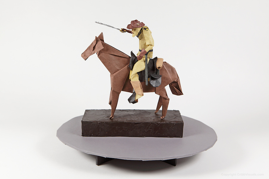 Origami Teddy Roosevelt On Horseback Folded By Talo Kawasaki Many Designs Are Included In This