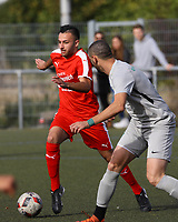 Adem Cakir (Büttelborn) setzt sich durch - Büttelborn 03.10.2018: SKV Büttelborn vs. SV Bürstadt