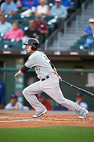 Norfolk Tides second baseman Corban Joseph (5) at bat during a game against the Buffalo Bisons on July 18, 2016 at Coca-Cola Field in Buffalo, New York.  Norfolk defeated Buffalo 11-8.  (Mike Janes/Four Seam Images)