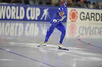 SCHAATSEN: HEERENVEEN: 15-12-2018, ISU World Cup, 500m Men Division B, Mirko Giacomo Nenzi (ITA), ©foto Martin de Jong
