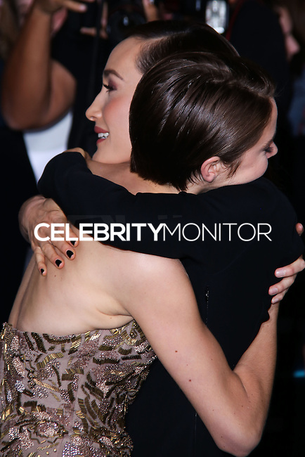 "WESTWOOD, LOS ANGELES, CA, USA - MARCH 18: Shailene Woodley, Maggie Q at the World Premiere Of Summit Entertainment's ""Divergent"" held at the Regency Bruin Theatre on March 18, 2014 in Westwood, Los Angeles, California, United States. (Photo by David Acosta/Celebrity Monitor)"