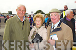 Pictured at Listowel Races on Sunday, from left: Der O'Connor, Alice Power and Tom Power from Wexford..