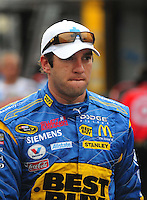 May 31, 2008; Dover, DE, USA; Nascar Sprint Cup Series driver Elliott Sadler during practice for the Best Buy 400 at the Dover International Speedway. Mandatory Credit: Mark J. Rebilas-