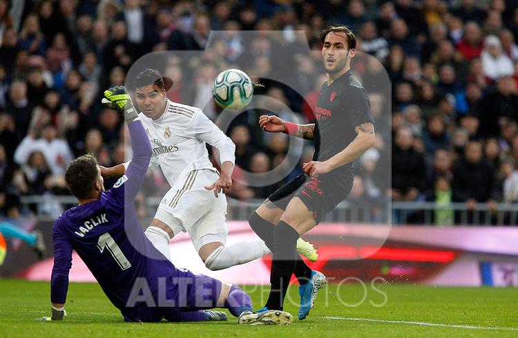 Real Madrid CF's Carlos H. Casemiro during La Liga match. Jan 18, 2020. (ALTERPHOTOS/Manu R.B.)