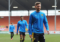 Oxford United's James Henry during the pre-match warm-up <br /> <br /> Photographer Kevin Barnes/CameraSport<br /> <br /> The EFL Sky Bet League One - Blackpool v Oxford United - Saturday 23rd February 2019 - Bloomfield Road - Blackpool<br /> <br /> World Copyright © 2019 CameraSport. All rights reserved. 43 Linden Ave. Countesthorpe. Leicester. England. LE8 5PG - Tel: +44 (0) 116 277 4147 - admin@camerasport.com - www.camerasport.com