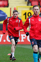 Ashley Hunter of Fleetwood Town warms up during the Sky Bet League 1 match between Charlton Athletic and Fleetwood Town at The Valley, London, England on 17 March 2018. Photo by Carlton Myrie.