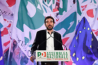 Former secretary of Democratic Party Maurizio Martina, that resigned during his speech<br /> Roma 17/11/2018. Assemblea Nazionale del Partito Democratico.<br /> Rome November 17th 2018. National Assembly of Italian Democratic Party.<br /> Foto Samantha Zucchi Insidefoto