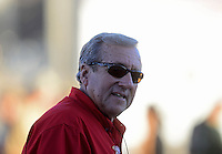 Oct. 27, 2012; Las Vegas, NV, USA: NHRA team owner Don Schumacher during qualifying for the Big O Tires Nationals at The Strip in Las Vegas. Mandatory Credit: Mark J. Rebilas-