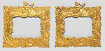 Pair of frames. France, ca. 1745. Cast and gilt bronze. H x W x D (a): 22 x 22 x 1.2 cm (8 11/16 x 8 11/16 x 1/2 in.). Purchased for the Museum by the Advisory Council,<br /> 1910-30-11-a,b. Photo by Matt Flynn © 2016 Cooper Hewitt, Smithsonian Design Museum
