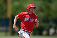 Philadelphia Phillies Austin Filiere (4) running the bases during an Minor League Extended Spring Training intrasquad game on April 24, 2019 at the Carpenter Complex in Clearwater, Florida.  (Mike Janes/Four Seam Images)