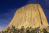 Devils Tower, Devils Tower National Monument, WY, Wyoming, Devils Tower at Devils Tower Nat'l Monument in Wyoming.