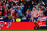 Atletico de Madrid's Alvaro Morata celebrates after scoring a goal during La Liga match. Mar 07, 2020. (ALTERPHOTOS/Manu R.B.)
