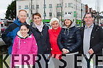 Michael McCarthy, Hayley O'Riordan, Sharon O'Riordan, Lana Horbach, Marta Kepka and Frank Cronin  Killarney at the Operation Transformation walk in Killarney on Saturday morning