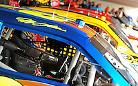 Sept. 20, 2008; Dover, DE, USA; Nascar Sprint Cup Series driver Jeff Gordon sits in his car prior to practice for the Camping World RV 400 at Dover International Speedway. Mandatory Credit: Mark J. Rebilas-