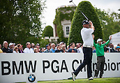 24.05.2015. Wentworth, England. BMW PGA Golf Championship. Final Round.  Thomas Bjorn [DEN] on the first tee. Final round of the 2015 BMW PGA Championship from The West Course Wentworth Golf Club