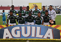 MONTERÍA - COLOMBIA ,30-01-2019:Formación del Deportivo Cali ante Jaguares de Córdoba  durante partido por la fecha 2 de la Liga Águila I 2019 jugado en el estadio Municipal Jaraguay de Montería . / Team of Deportivo Cali agaisnt of Jaguares of Cordoba   during the match for the date 2 of the Liga Aguila I 2019 played at Municipal Jaraguay Satdium in Monteria City . Photo: VizzorImage / Andrés Felipe López  / Contribuidor.