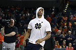 CHARLOTTESVILLE, VA - MARCH 03: Notre Dame's Elijah Burns. The University of Virginia Cavaliers hosted the University of Notre Dame Fighting Irish on March 3, 2018 at John Paul Jones Arena in Charlottesville, VA in a Division I men's college basketball game. Virginia won the game 62-57.