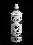 Pittsburgh PA:  Studio Photography of a Gulf Roach Ant Killer Can for a product catalog - 1962.