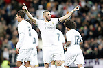 Real Madrid's Karim Benzema celebrates goal during La Liga match. March 20,2016. (ALTERPHOTOS/Acero)