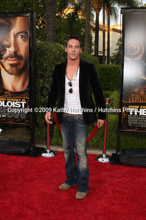Jonathan Rhys Meyers arriving at the Soloist Premiere at Paramount Studios in Los Angeles,  California on April 20, 2009.©2009 Kathy Hutchins / Hutchins Photo....                .