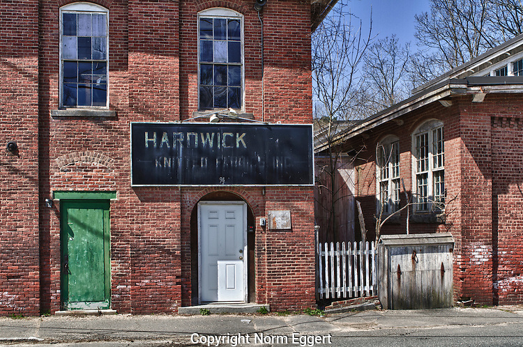 Hardwick Knitting Mill in Gilbertville, MA , an abandoned mill, was built on the banks of the Ware river.