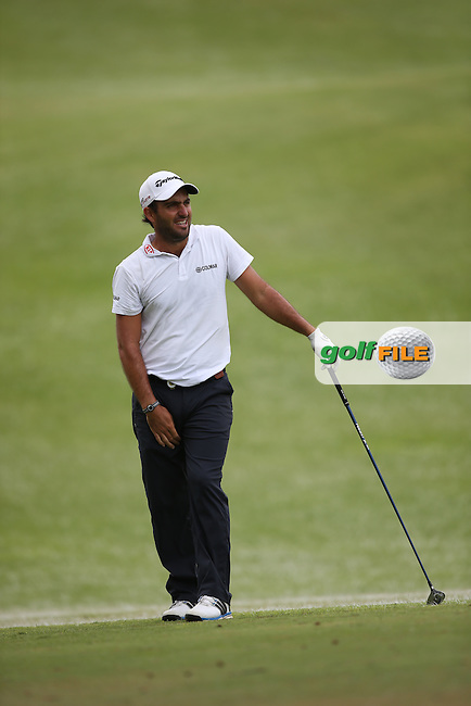 Edouardo Molinari (ITA) falls out his shot to the first during Round Two of the Africa Open 2015 at the East London Golf Club, East London, Eastern Cape, South Africa. Picture:  David Lloyd / www.golffile.ie. 06/03/2015
