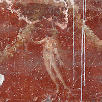 Painting of a male figure and garlands, fresco in room 28, 2nd century AD, Terme dei Sette Sapienti (Baths of the Seven Sages), Ostia Antica, Italy. Picture by Manuel Cohen
