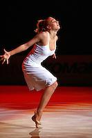 """Natalya Godunko of Ukraine performs gala exhibition routine handsfree at 2007 World Cup Kiev, """"Deriugina Cup"""" in Kiev, Ukraine on March 16, 2007."""