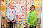 L-r Sharon Hodgkiss and Breda Browne at the Quilt exhibition in the Kerry County Museum  part of Culture Night on Friday