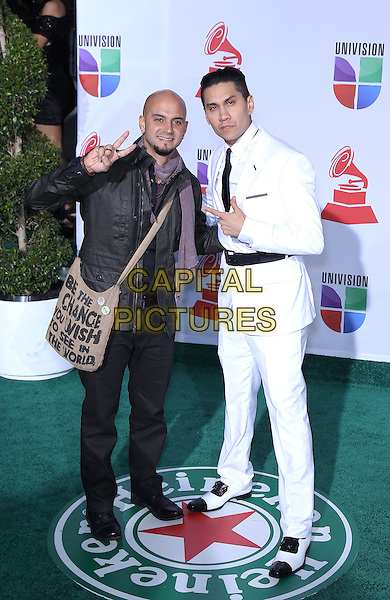 Sie7e, Taboo (of The Black Eyed Peas).2011 Latin Grammy Awards Arrivals at Mandalay Bay Resort Hotel and Casino. Las Vegas, Nevada, USA..10th November 2011.full length black trousers jacket white shirt.CAP/ADM/MJT.© MJT/AdMedia/Capital Pictures.