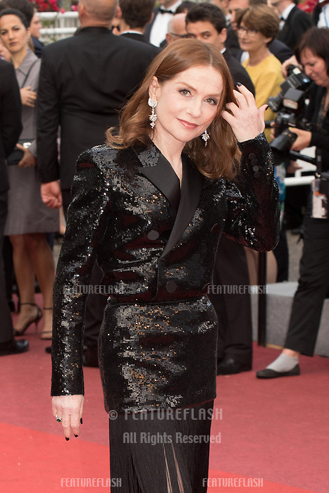 CANNES, FRANCE - MAY 13:  Isabelle Huppert attends the screening of 'Sink Or Swim (Le Grand Bain)' during the 71st annual Cannes Film Festival at Palais des Festivals on May 13, 2018 in Cannes, France.<br /> Picture: Kristina Afanasyeva/Featureflash/SilverHub 0208 004 5359 sales@silverhubmedia.com